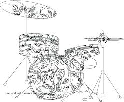 Coloring Pages Musical Instruments Musical Instruments Coloring