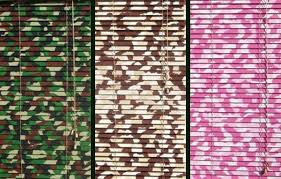 Window Blinds In Colorful CamouflageCamouflage Window Blinds