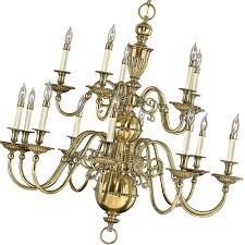 traditional new england colonial brass chandelier