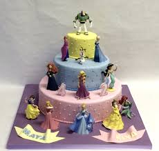 3 Tier Quilted Disney Princess Cake Childrens Birthday Cakes