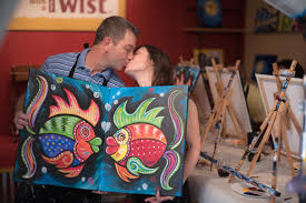 twist up your date night with a painting in our studio you each paint one side and then they fit together perfectly perfect match just like you