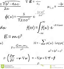 Scientific Formulas Seamless Pattern Stock Image