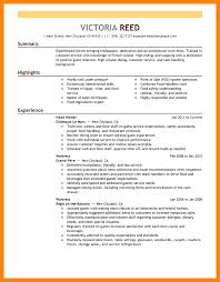 Restaurant Resume Templates Answering Service Operator Sample