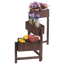 Flower Display Stand For Sale 100 Tier Country Rustic Folding Wood Planter Box Flower Plant 40