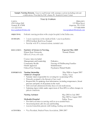Sample Nurse Resume No Experience Professional Resumes Sample Online