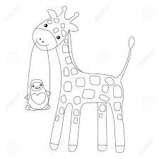 Kleurplaten Van Een Giraf