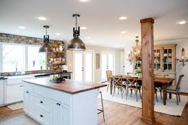 Industrial Style Kitchen Lighting 9 Design Tricks We Learned From Joanna Gaines Hgtvs Decorating