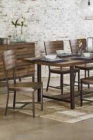 industrial kitchen table furniture. Industrial Dining With Demi-Wing Chairs. · Framework + Contour Kitchen Table Furniture N