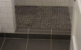 1920s portland bathroom with walk in shower done shower floor tile options