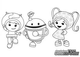 Team Umizoomi Birthday Coloring Pages
