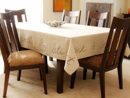 make a tablecloth from a canvas drop cloth