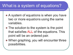 what is a system of equations