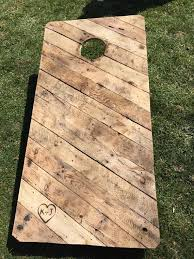 Wooden Corn Hole Game Handcrafted and made to order pallet wood corn hole game boards 96