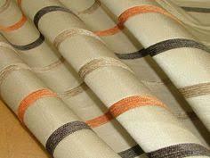 17m ashley wilde finley stripe terracotta jacquard curtain upholstery fabric living room