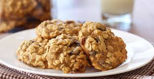 skinny oatmeal walnut raisin cookies