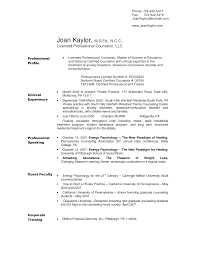 Sample Mental Health Counselor Resume For Study Objective Examples