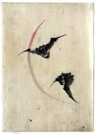 animal bat flying asian brush painting 719x1000 jpg