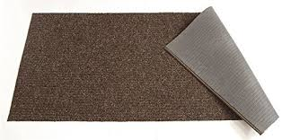 custom size runner rug brown solid color 26 inch wide select your length non slip