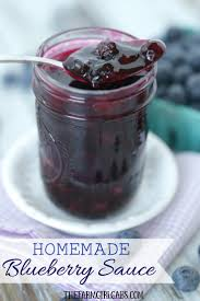 this easy homemade blueberry sauce is the perfect topping for ice cream and pancakes as well