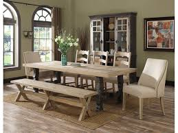 Home Furnishings Emerald Home Furnishings Dining Room Table 44x78 Trestle W 28 Lf