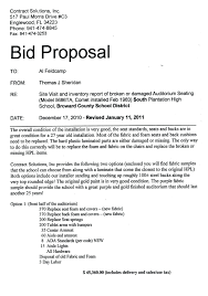 Contract Bid Proposal Contract Bid Proposal Under Fontanacountryinn Com