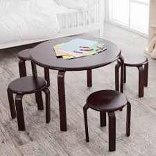 wooden table and chairs for kids homesfeed child wooden chair set round top wood in