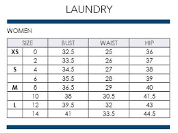 Laundry Dress Size Chart Shelli Segal Laundry Size Chart