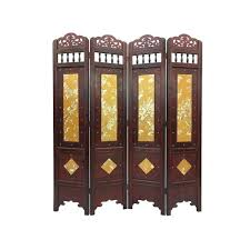 Tall room dividers Ft Vintage Gold Leaves Wood 6foot Tall Room Divider Screen Bed Bath Beyond Shop Vintage Gold Leaves Wood 6foot Tall Room Divider Screen Free