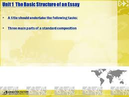 part four composition essay writing ppt unit 1 the basic structure of an essay