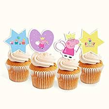 Party Propz Peppa Pig Birthday Cupcake Toppers 14pc Amazonin