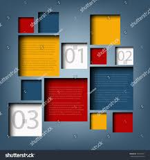 Information Board Design Infographic Background Box Information Board Design Stock