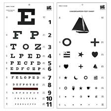 Child Eye Test Chart High Contrast 20 Snellen E Child Eye Chart