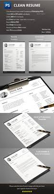 Resume Template Psd Design Download Http Graphicriver Net Item