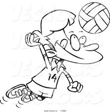 Small Picture Coloring Pages Kids Volleyball Girl Coloring Page Volleyball