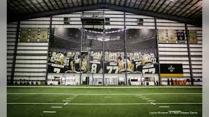 New Saints Legends Banner At Indoor Facility