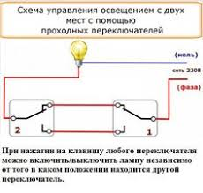 staircase wiring circuit diagram how to control a lamp from 2 Схемы подключения и соединение двух выключателей на одну и две группы ламп electrical wiring electrical
