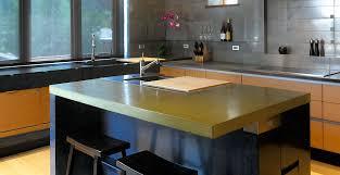 kitchen island concrete countertop by fu tung cheng concrete exchange