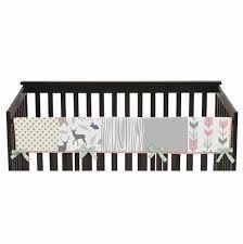 grey collection 5 piece crib bedding