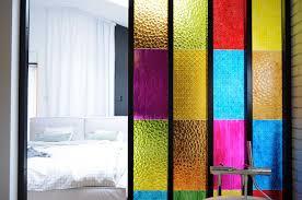 Partition Bathroom Design Bedroom Bathroom Partition In Colored Plastic Panels Diy Idea