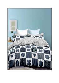 elegantly designed cotton bed sheet for double bed king size 90 x 100 inches with 2 pillow covers king size 32 x 21 inches