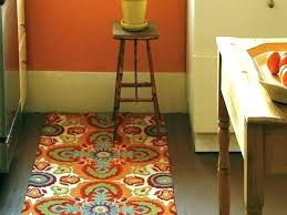 washable kitchen rug orange rugs area easy clean target