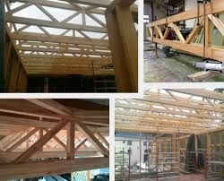 Designs For Glued Trusses Wooden Girders Exposed Wooden Trusses Glass Wood