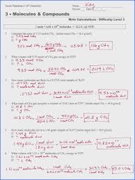 Worksheet Mole Problems | Rosenvoile.com