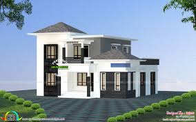 low budget villa all side view kerala home design and floor plans
