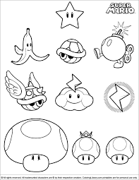 Super Mario Brothers Coloring Picture To Use For Pattern For