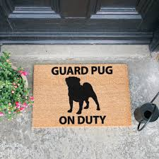 Guard Pug doormat - Artsy Doormats
