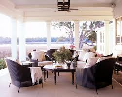 comfy brown wooden sunroom furniture paired. Image Of: Closing In A Porch With Windows Photo Comfy Brown Wooden Sunroom Furniture Paired