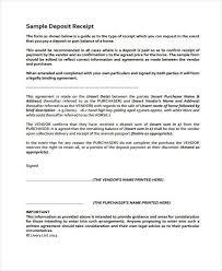Deposit Receipt Sample Receipt Form In Pdf