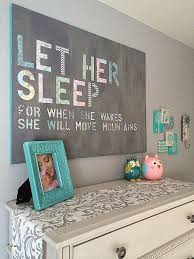 kinslee s nursery 3 let her sleep diy wall art made from stenciled decorative paper and on diy wall art for baby room with best of baby room wall art ideas p41ministry