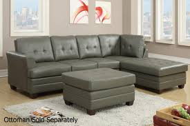 Sectional Living Room Gray Leather Sectional Sofa